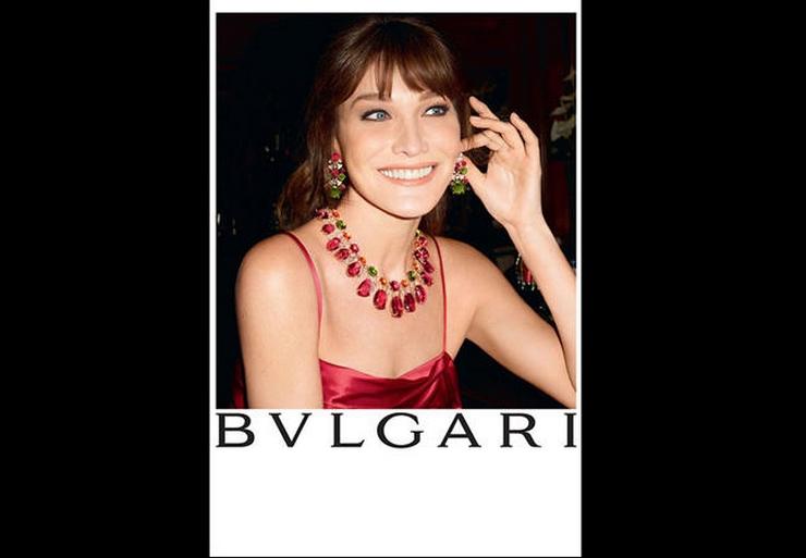 « C'est la première fois que Carla Bruni prête son image à une marque de haute joaillerie. Cette campagne de Bulgari est une campagne sur-mesure, tout en clair-obscur et lumière intimiste, dans laquelle Carla Bruni était radieuse » Carla Bruni: diva pour Bulgari Carla Bruni: diva pour Bulgari carla bruni bulgari
