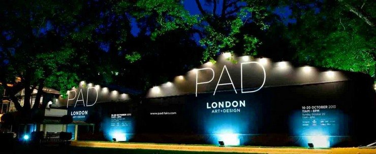 « La Foire d'Art PAD Londres ou Pavilion d'Art & Design de Londres, si vous préférez, comprends des œuvres exceptionnelles de l'art moderne, du design, des arts décoratifs, de la photographie, des bijoux et de l'art tribal depuis 1860 jusqu'à aujourd'hui » PAD Londres 16-20 Octobre PAD Londres 16-20 Octobre PAD London