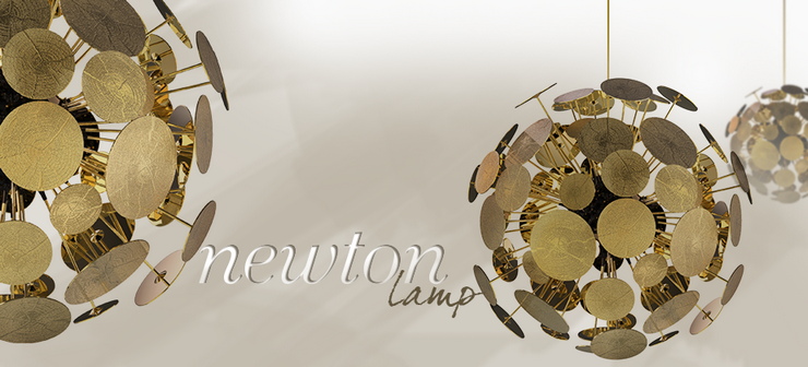 Maison et objet 2014  Maison et Objet Paris 2014: Scènes d'Intérieur  Maison et Objet Paris 2014: Scènes d'Intérieur newton gold supension lamp 01