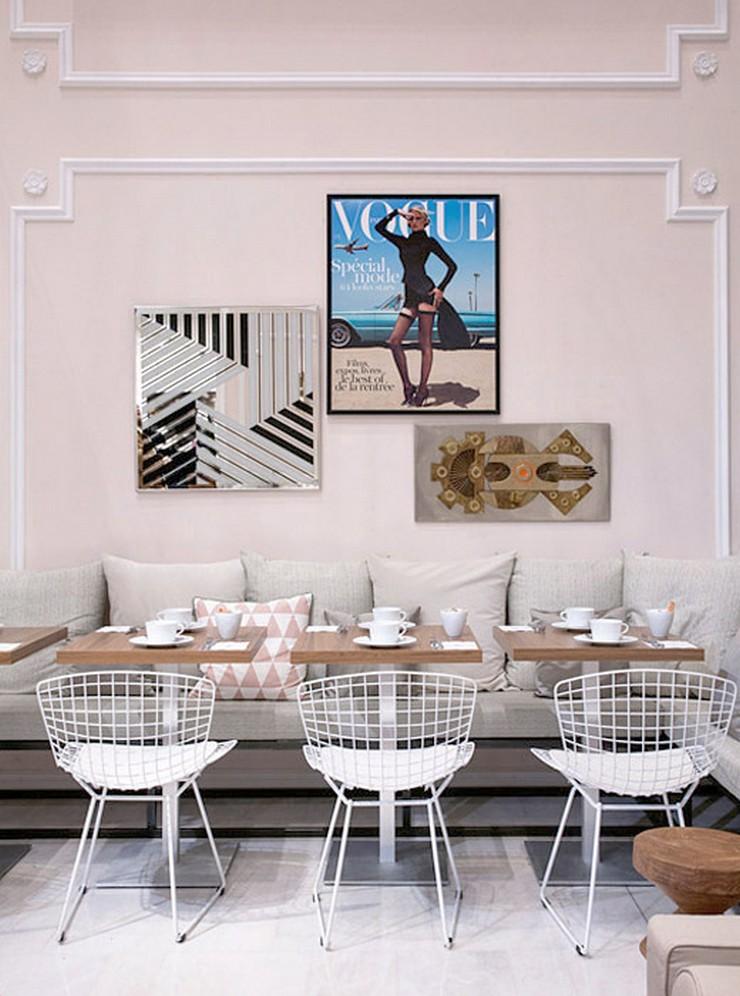 « Dès le 23 janvier au 22 mars, vous pouvez trouver dans l'atrium du Printemps Haussmann le nouveau VOGUE Café. » Le nouveau VOGUE Café au Printemps Le nouveau VOGUE Café au Printemps Le nouveau VOGUE Caf   au Printemps Magasins Deco 2