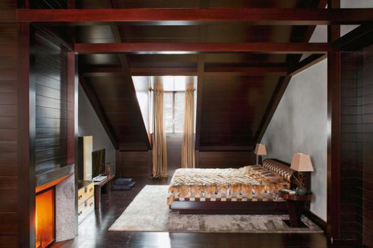 La maison de montagne luxueuse d'Armani La maison de montagne luxueuse d'Armani chalet giorgio armani design bedroom