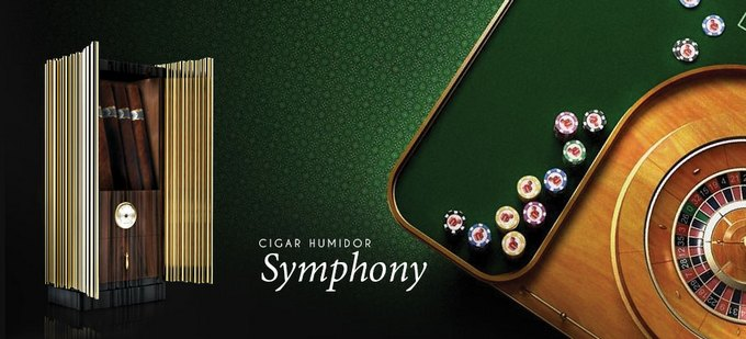 """FOCUS SUR LA LA """"PRIVATE COLLECTION"""" DE BOCA DO LOBO Symphony Cigar Humidor Slider 01"""