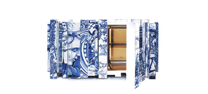 LE FOCUS DE LA SEMAINE: LE DESIGN PORTUGAIS  LE FOCUS DE LA SEMAINE: LE DESIGN PORTUGAIS  heritage hand painted sideboard 02