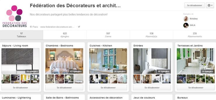 7 Meilleurs Pinterest Français de Déco Les Meilleurs Pinterest Déco Pinterest f  d  ration des d  corateurs et architectes