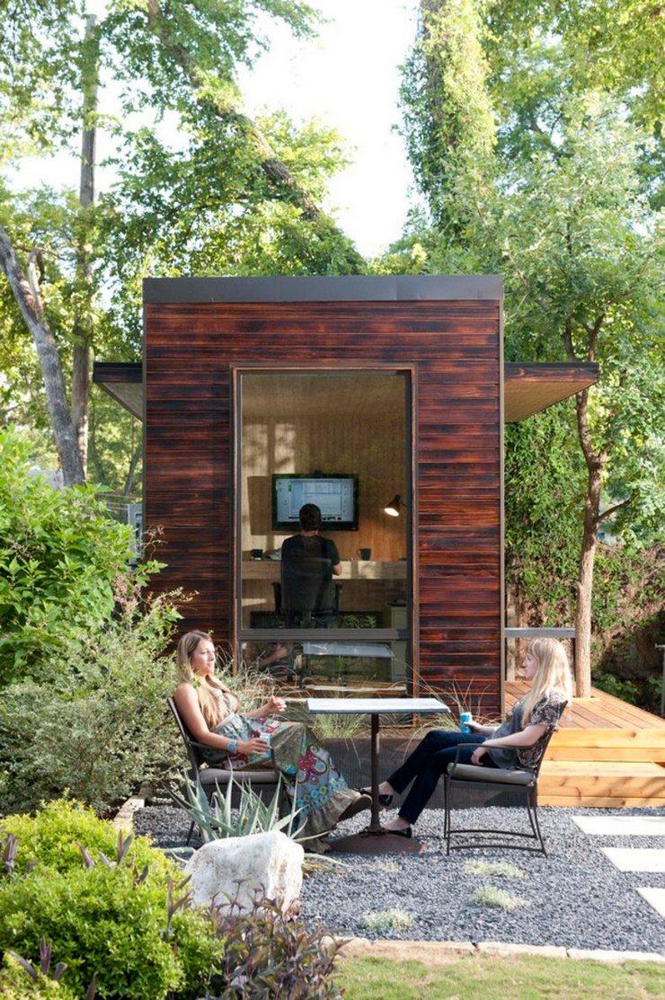 5 Bureaux de Maisons Originaux qui vous feront rester chez vous 5 Bureaux de Maisons Originaux qui vous feront rester chez vous bureau cabane bois2