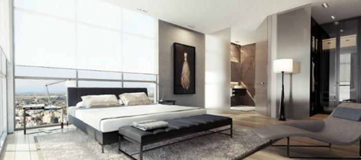 Une chambre contemporaine parfaite en tons de gris Une chambre contemporaine parfaite en tons de gris Black white gray bedroom decor luxury modern Slide2 710x315