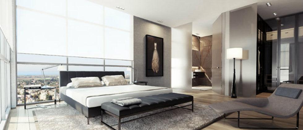 Une chambre contemporaine parfaite en tons de gris Une chambre contemporaine parfaite en tons de gris Black white gray bedroom decor luxury modern Slide2