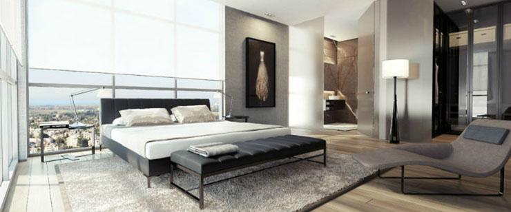 Une chambre contemporaine parfaite en tons de gris Une chambre contemporaine parfaite en tons de gris Black white gray bedroom decor luxury modern
