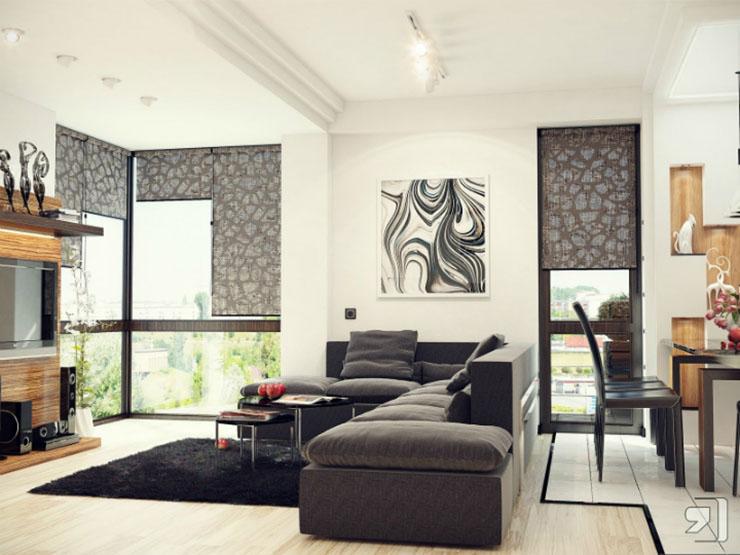 Une chambre contemporaine parfaite en tons de gris Une chambre contemporaine parfaite en tons de gris Black white gray living room sofa pillow luxury modern