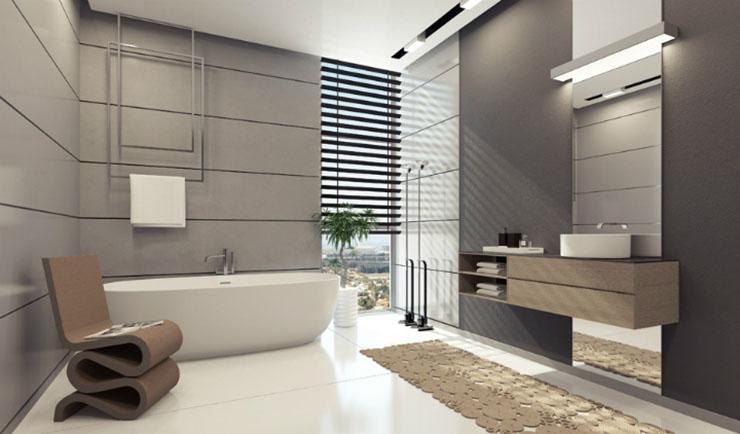 Une chambre contemporaine parfaite en tons de gris Une chambre contemporaine parfaite en tons de gris White gray bathroom decor luxury modern1