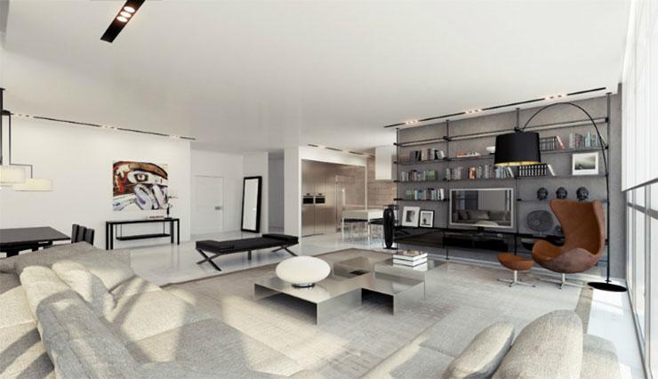 Une chambre contemporaine parfaite en tons de gris Une chambre contemporaine parfaite en tons de gris gray white living room luxury modern