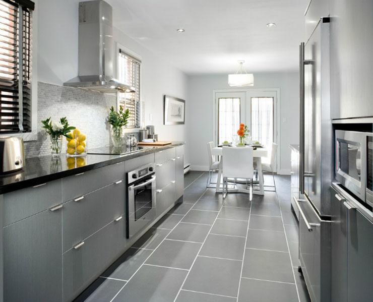 Une chambre contemporaine parfaite en tons de gris Une chambre contemporaine parfaite en tons de gris grey kitchen modern luxury white1