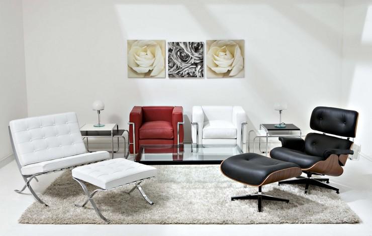 Décorations avec la chaise longue et le pouf de Charles et Ray Eames Décorations avec la chaise longue et le pouf de Charles et Ray Eames 116