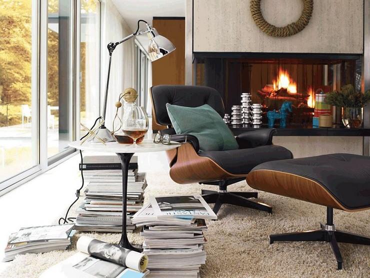 Décorations avec la chaise longue et le pouf de Charles et Ray Eames Décorations avec la chaise longue et le pouf de Charles et Ray Eames 39