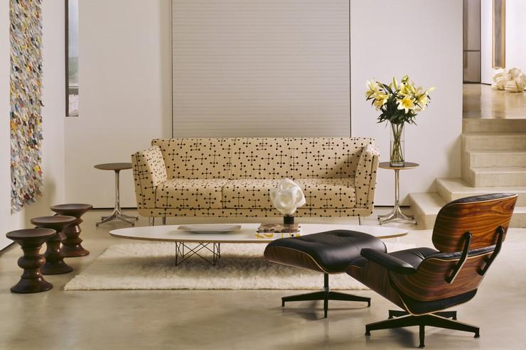 Décorations avec la chaise longue et le pouf de Charles et Ray Eames Décorations avec la chaise longue et le pouf de Charles et Ray Eames 43