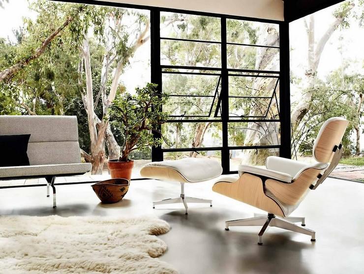 Décorations avec la chaise longue et le pouf de Charles et Ray Eames Décorations avec la chaise longue et le pouf de Charles et Ray Eames 72