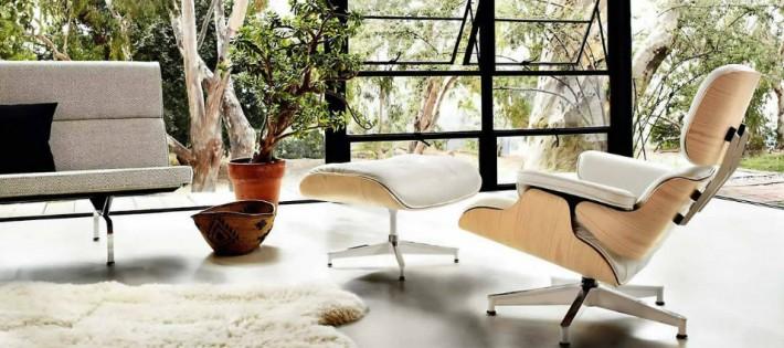 Décorations avec la chaise longue et le pouf de Charles et Ray Eames Décorations avec la chaise longue et le pouf de Charles et Ray Eames feature 710x315
