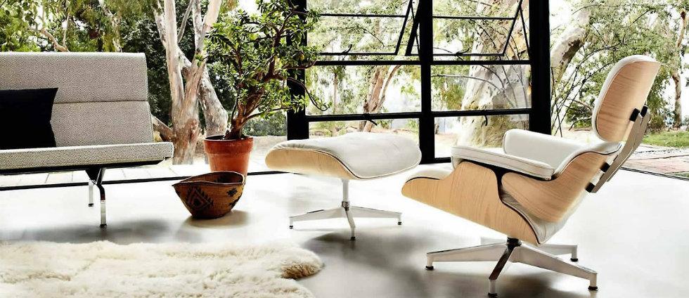 Décorations avec la chaise longue et le pouf de Charles et Ray Eames Décorations avec la chaise longue et le pouf de Charles et Ray Eames feature