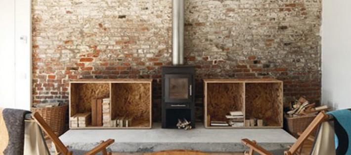20 Inspirations d'intérieurs rustiques 20 Inspirations d'intérieurs rustiques rustic interior simple fireplace 710x315