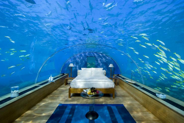 Le top 5 des chambres d'Hôtel les plus incroyables. Le top 5 des chambres d'Hôtel les plus incroyables.  Aquarium chambre1