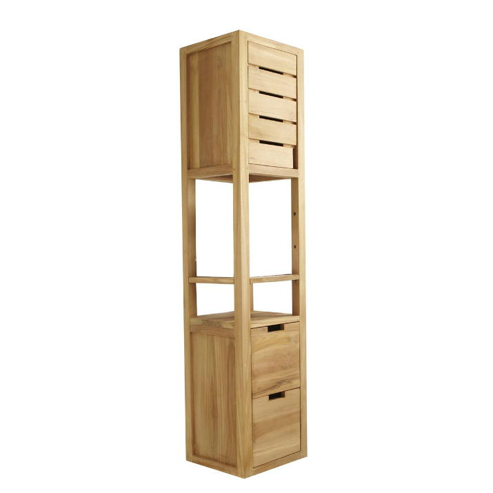 Nos id es d co pour une salle de bain chaleureuse - Meuble bambou pas cher ...