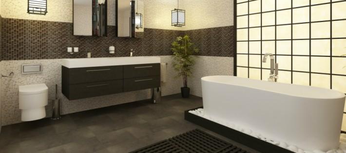 Nos idées déco pour une salle de bain chaleureuse. Nos idées déco pour une salle de bain chaleureuse sdb noir et blanc 11 710x315