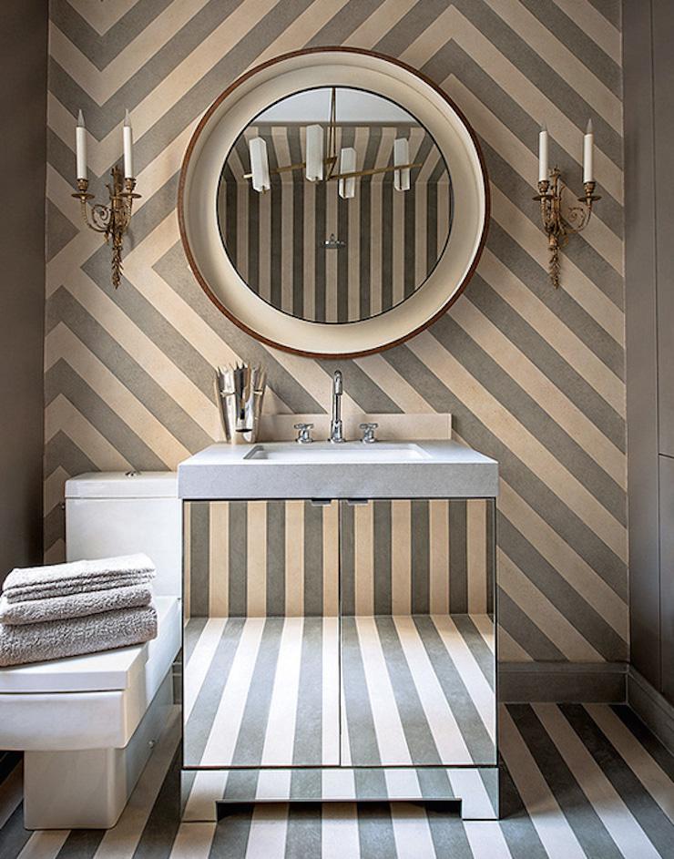 Bathroom Appartement à Paris par Jean-Louis Deniot Appartement à Paris par Jean-Louis Deniot Bathroom