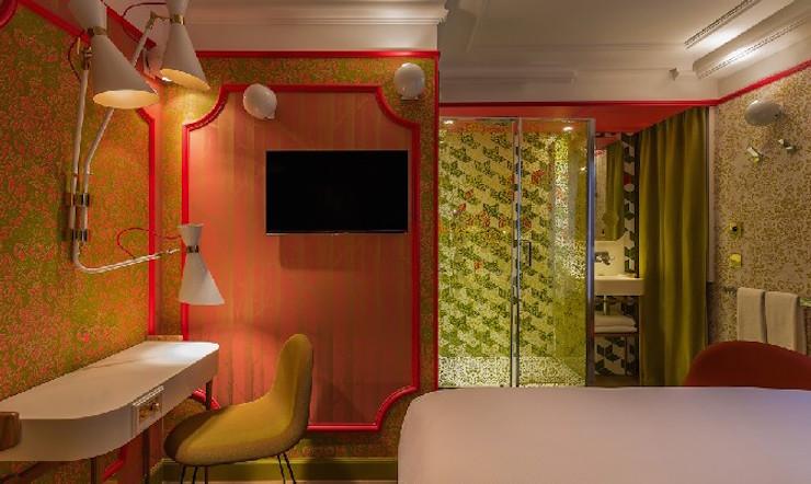 """""""l'Idol Hotel à Paris: l'émotion du design"""" l'Idol Hotel à Paris: l'émotion du design l'Idol Hotel à Paris: l'émotion du design IDOL HOTEL CHAMBRE LADY SOUL 3 PARIS 8"""
