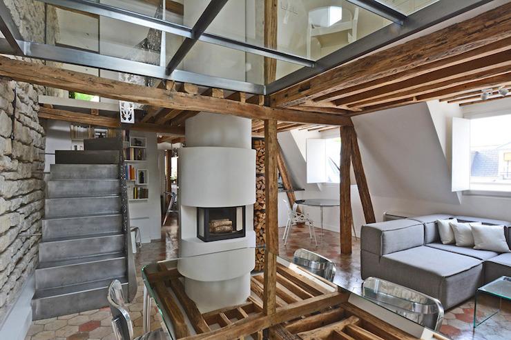 """""""Duplex penthouse à Paris par Michael Herrman"""" Duplex penthouse à Paris par Michael Herrman Duplex penthouse à Paris par Michael Herrman 5"""