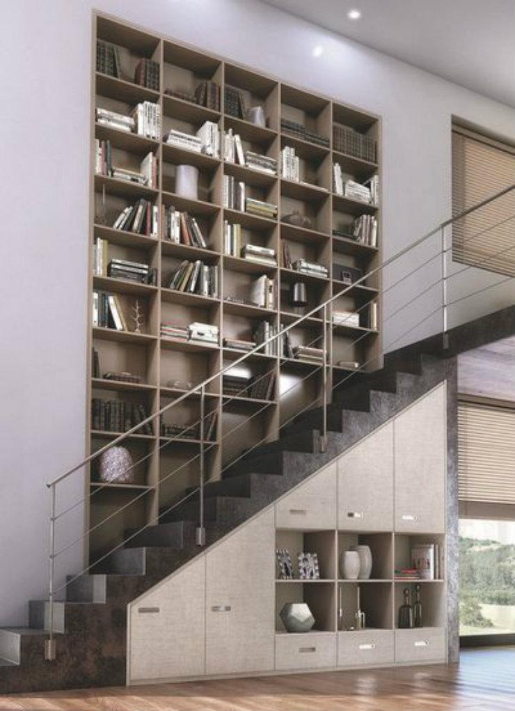 magasinsdeco comment ranger vos livres bibliotheque escalier. Black Bedroom Furniture Sets. Home Design Ideas