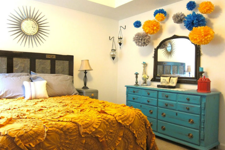 InteriorDecoration-5 summer ideas with blue and yellow-summersdf