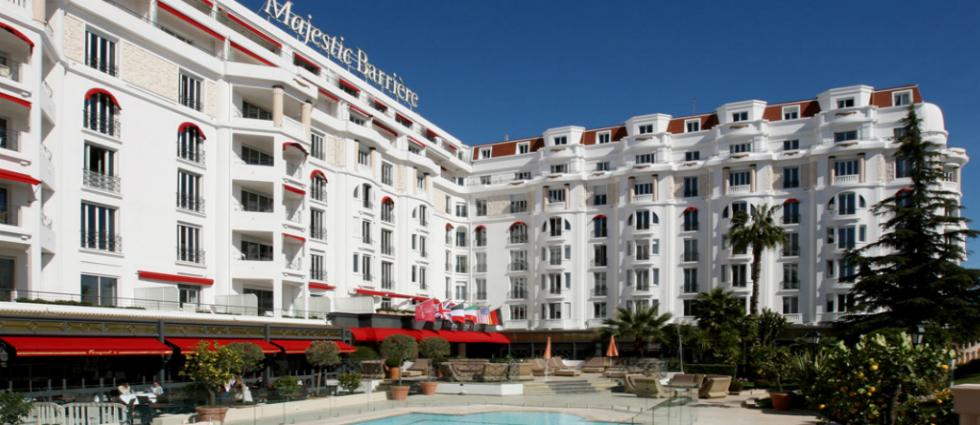 L'Hôtel Majestic Barrière à Cannes
