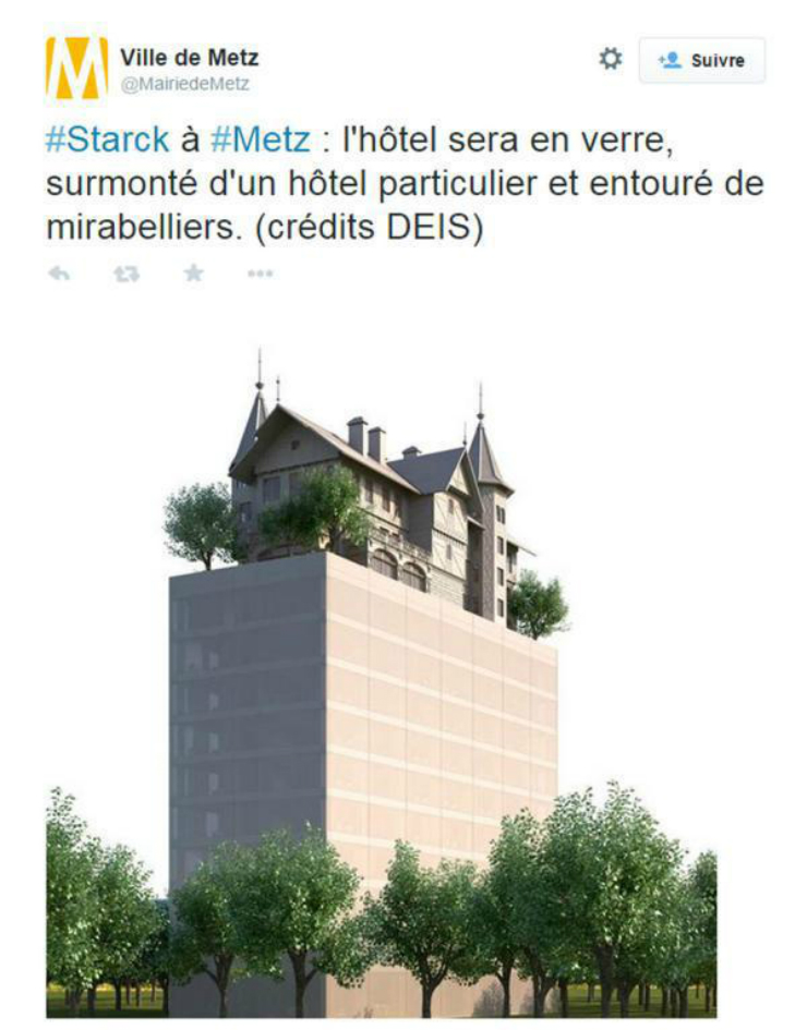 Philippe Starck - 5 Lancement d'un hôtel hors-norme conçu par Philippe Starck à Metz Lancement d'un hôtel hors-norme conçu par Philippe Starck à Metz Philippe Starck 5
