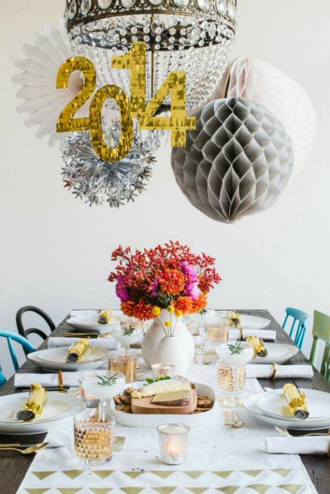 5 décoration de table pour le Nouvel An