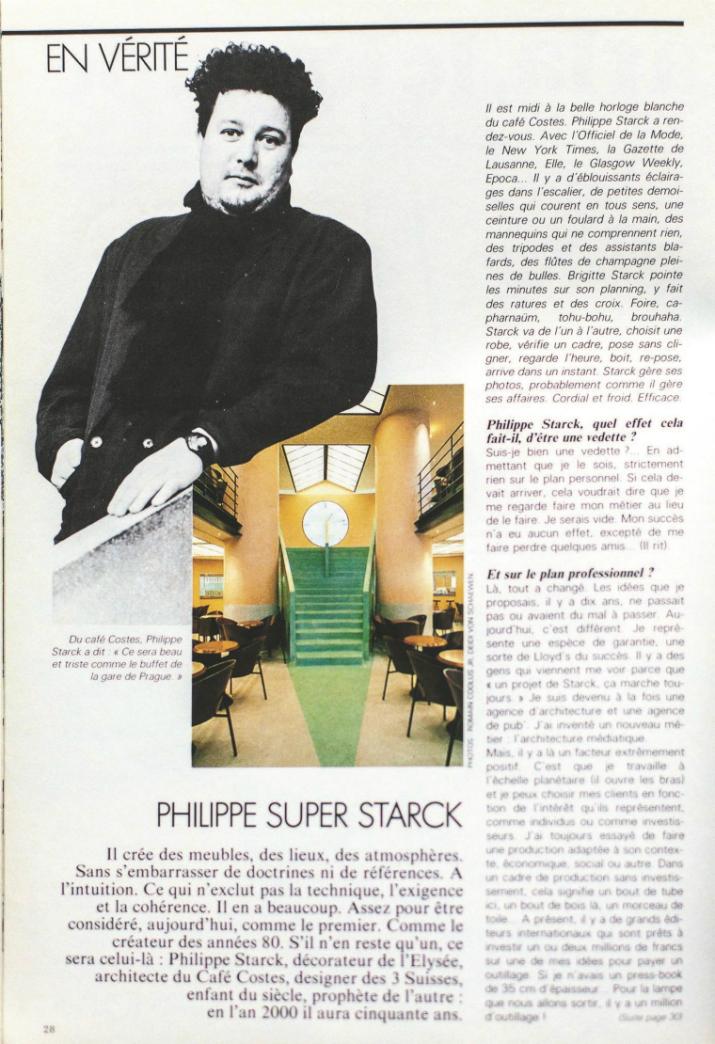 3 La chaise « costes » de Philippe Starck La chaise « costes » de Philippe Starck 315