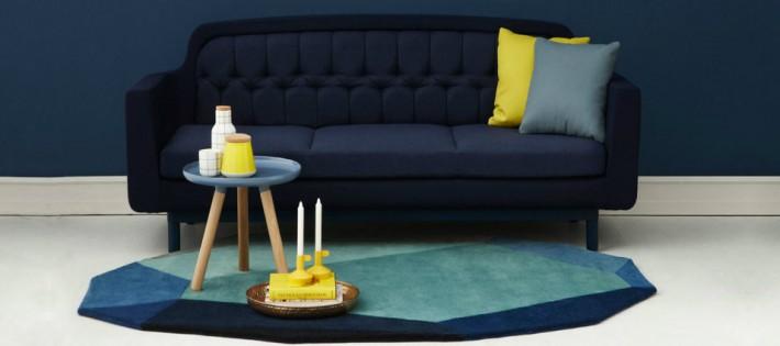 5 décorations en ton de bleu