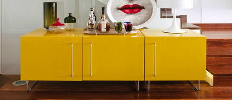 0  5 buffets avec la couleur jaune 017