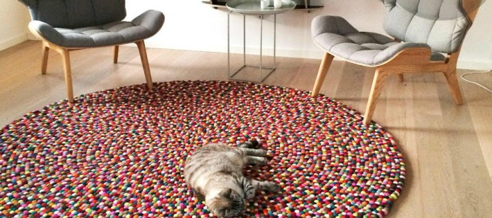 Des tapis ronds pour un effet moderne !
