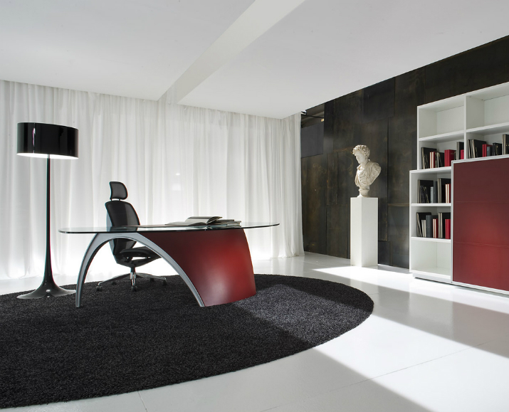 Choisir le bureau id al - Bureau en verre rouge ...