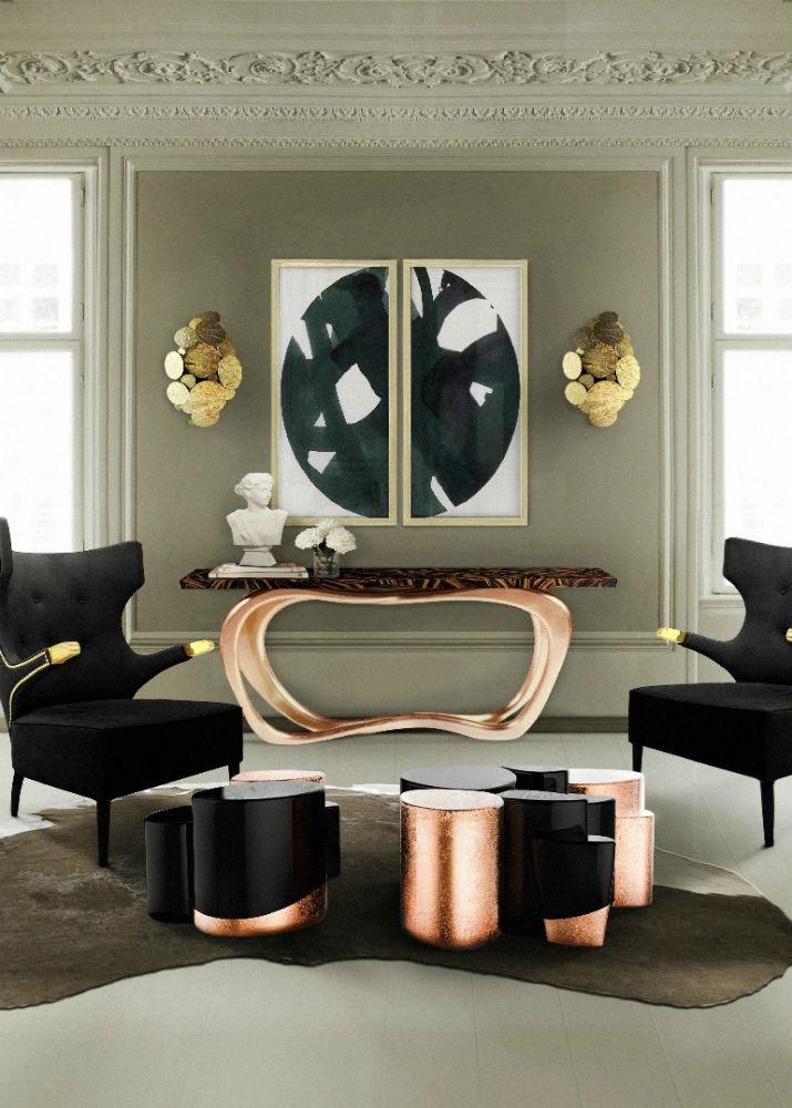Boca do Lobo has some luxury ambiances with copper furniture too détails en cuivre 10 idées gracieuses avec des détails en cuivre Boca do Lobo has some luxury ambiances with copper furniture too