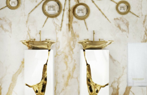 5 idées de luxe de salle de bain avec Tables d'appoint Superbes