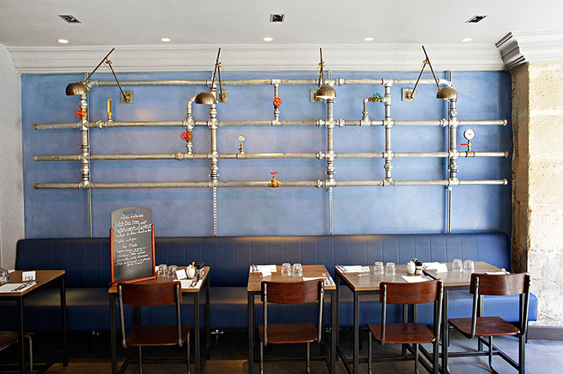 CABINET LAURENT MOREAU 6 PROJETS D'INTÉRIEUR PAR LE CABINET LAURENT MOREAU restaurant Rob 5A