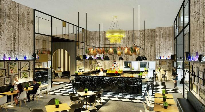 Un bar et un espace VIP à Equip Hotel par Delightfull