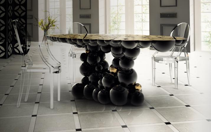 Newton  table Table de Noël – Des idées pour décorer votre salle à manger Newton Dining Table