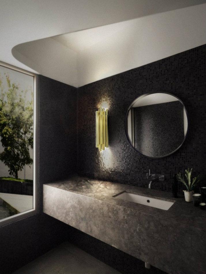 salle de bains noires salle de bains 7 idées de design de salle de bains noires de luxe Dark Elegant Bathroom e1465816610185