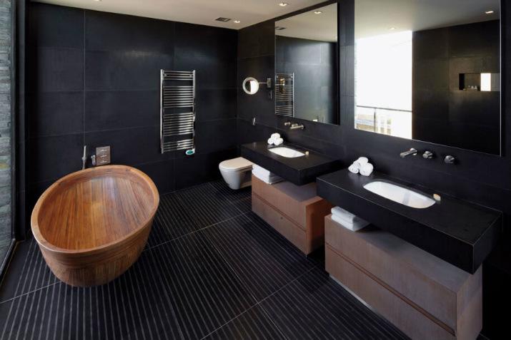 salle de bain de luxe salle de bains 7 idées de design de salle de bains noires de luxe Natural Black Bathroom