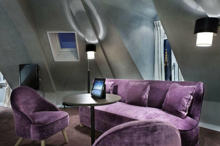 hôtel littéraire parisien pavillon des lettres Paris Hôtels: Le Pavillon des Lettres par Kerylos Intérieurs anderson 5