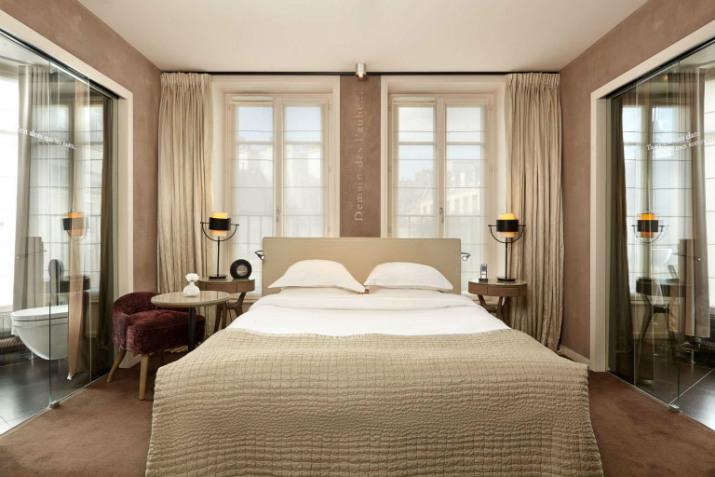 hôtel littéraire parisien pavillon des lettres Paris Hôtels: Le Pavillon des Lettres par Kerylos Intérieurs deluxe room