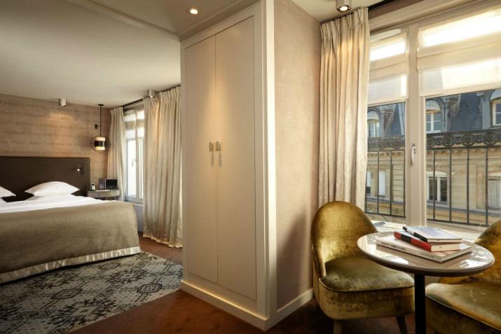 hôtel littéraire parisien pavillon des lettres Paris Hôtels: Le Pavillon des Lettres par Kerylos Intérieurs junior suite e view