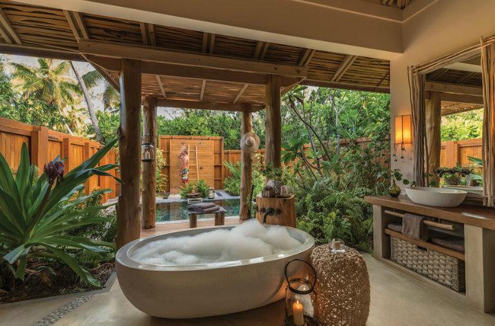 10 id es tonnantes de salle de bains tropicales que vous devez voir. Black Bedroom Furniture Sets. Home Design Ideas